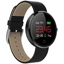 wawer Tensiómetro de frecuencia cardíaca Dormir Tracker Smart Pulsera de reloj con multicolores UI 51mm (L) * 41mm (W) * 12mm (H) para iOS 8.0+ & Android 4.4+, color negro