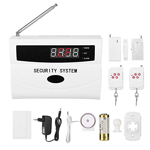 VBESTLIFE 433 MHz Wireless Home Security Alarm System, GSM Home Security Alarmanlage SMS SIM Anruf Auto Dialer für Home Apartment Hotel(Weiß) Wireless-home-security-system