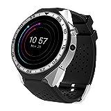 iBaste Bluetooth Smartwatch/Android Smart Armbanduhr/Sportuhr 6G Quad Core Zinklegierung, Unterstützt GPS Navigation, WiFi, Kamera, Bluetooth 4.0, SMS, Aufnahmefunktion