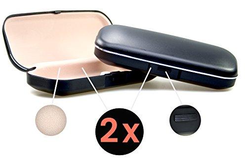 Demel - Étui à lunettes - Femme Noir Noir Doppelpack (2 x Etui)