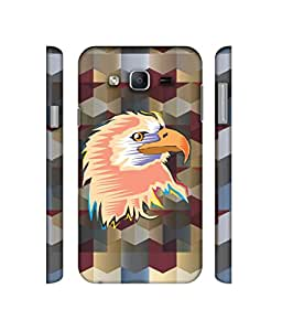 NattyCase Eagle Pattern Design 3D Printed Hard Back Case Cover for Samsung Galaxy On7