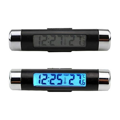 FZ LCD Digitales Innen- und Außen Uhr Thermometer für PKW Auto LKW KFZ ()