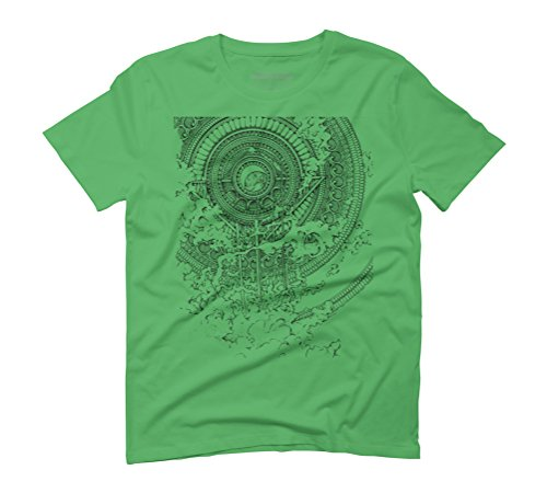 INRED Men's Graphic T-Shirt - Design By Humans Green