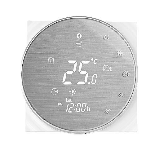 Decdeal Smart Termostato WiFi per Caldaia Gas - Termostato da Parete Programmabile,Controllo Vocale,Supporto App,Compatibile con Amazon Echo/Google Home/IFTTT, 3A AC 95-240V