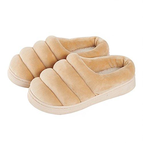 Chaussons DWW Pantoufles de Coton Hiver Intérieur Antidérapant Maison Imperméable à LEau Chaude Mémoire Mousse Douce Chaussures Respirantes Pattern 2