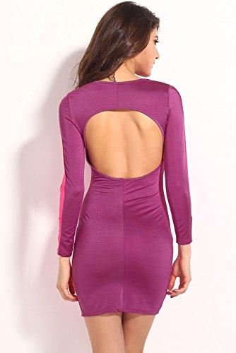 Dissa® femme Violet SY21196-2 robe de cocktail Violet