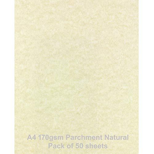 A4170gsm naturale confezione da 50fogli in carta pergamena di noè