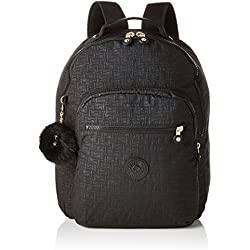 Kipling Seoul Baby Backpack Mochila Tipo Casual, 44 cm, 26 Liters, Negro (Black Pylon Emb)