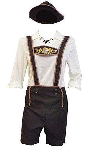 Bslingerie Herren Kostüm Oktoberfest Beer Bavarian Guy Hosen (XL, Beer Bavarian Guy) (Traditionelle Kostüme Aus Deutschland)