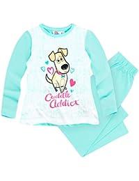 b0298248af899 Comme des Bêtes Pyjama Long Enfant Fille Blanc Bleu de 4 à 10ans