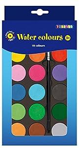 Playbox - Water Colour Palette (18 Colours w/ Brush) - 22 x 12cm