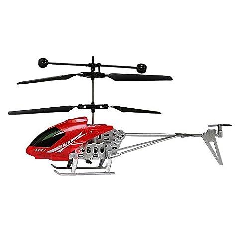 Kingko® Vivid Design Spaß QF966 2.5CH Mini RC Hubschrauber Radio Fernbedienung Flugzeug Micro 2.5 Kanal für Kinder Spielzeug Geschenk (Red)
