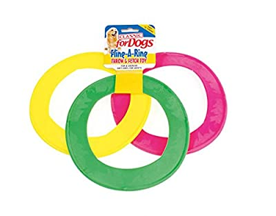 Fling a ring dog frisbee toy