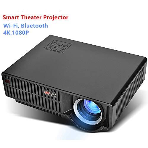 SG Tragbarer Heimprojektor Android WiFi Mini Micro LED HD 1080P Projektor 4K Dekodierungsunterstützung Wifl und Bluetooth ist Besser geeignet für Ihr Heimkino H. 264 Hybrid