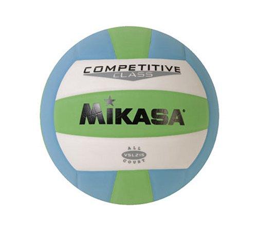 Mikasa Volleyball Competitive Class, Unisex-Erwachsene, Mikasa Competitive Class Volleyball (Green/White/Blue), Green/White/Blue, Einheitsgröße -