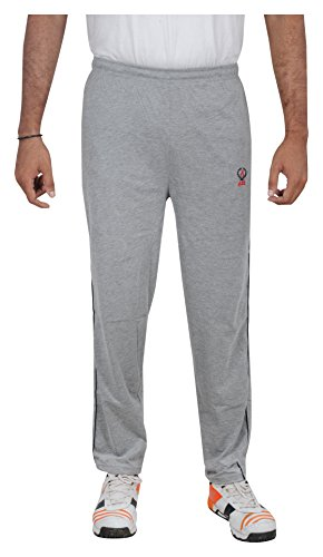 Bawas Men's Cotton Track Pant (12--XL, Grey, XL)