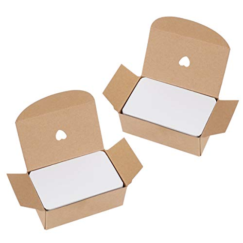 Las tarjetas blancas en blanco pueden dejar todo lo que quieras expresar. Caracteristicas: -Es como tarjeta de papel kraft, cartón kraft en blanco, tarjeta de mensaje de tarjeta de palabra, tarjeta de regalo en blanco de bricolaje. -Las tarjetas blan...