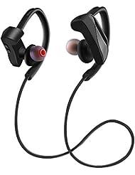 IPX4 CVC 6.0 Betamemo Ecouteurs Bluetooth 4.1 Intra-Auriculaires Casque de sport sans fil Stéréo avec Micro, Anti-sueur et cancellation du bruit pour Apple iPhone, Android, Windows et Autres Appareils