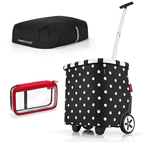 reisenthel carrycruiser plus cover plus case 2 Einkaufskorb Einkaufstasche Einkaufstrolley Set Rolltasche Case Kosmetik (mixed dots) Dots Case Cover