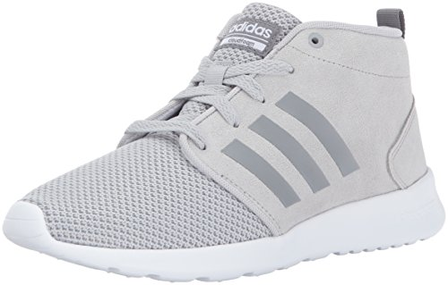 adidas Neo Women's CF QT Racer Mid W Running-Shoes, Grey Two/Grey Three/Crystal White, 7.5 Medium US