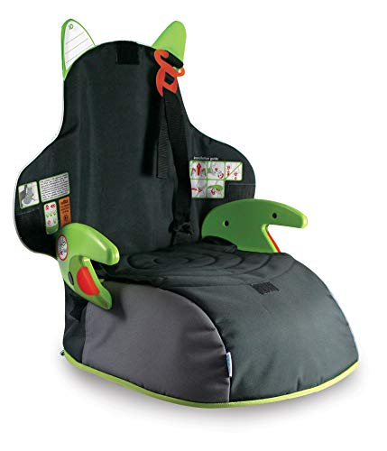 Trunki BoostApak - Mochila de viaje, Asiento alzador de viaje portátil y silla coche grupo 2 3 (Verde)