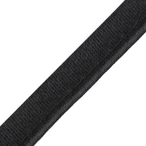 3 Meter Seidenpaspelband 10mm schwarz Biesenband Satin am laufenden Meter von der Rolle geschnitten 100% Polyester 4053751003222 - Satin-paspel