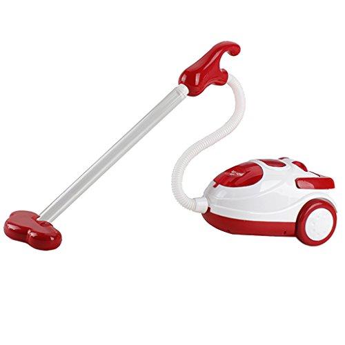 KESOTO Giocattolo di Plastica di Simulazione di Elettrodomestico di Plastica Verde dei Bambini Gioca L'aspirapolvere del Giocattolo - Bianco Rosso