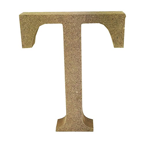 Simply Creative Smooth Wooden Blank MDF Shape - Letter T - Buy