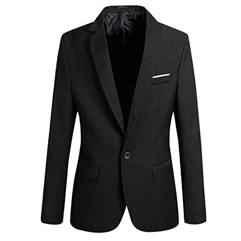 Sichyuan Fashion New Style Men's Suit Separates Slim Fit Formal Dress Suit,Classic One Button Solid Blazer Jacket Coat.