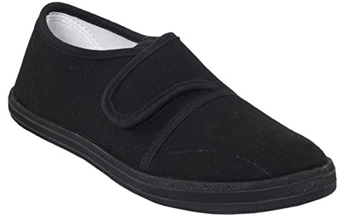 Trespass Gym Hero, Unisex-Kinder Sneakers Schwarz (Black)
