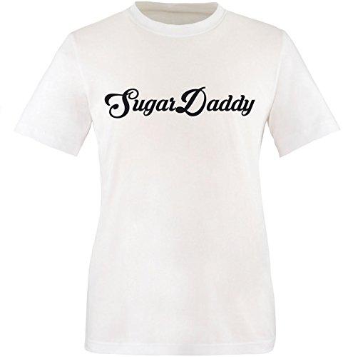 EZYshirt® Sugardaddy Herren Rundhals T-Shirt Weiss/Schwarz
