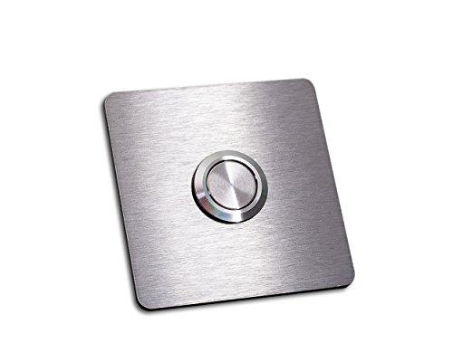 Timbre acero inoxidable botón «Schäfer-b», sin