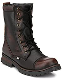 SHOE DAY MEN'S WOODLAND LEATHER OUTDOOR STEEL TOE BOOT