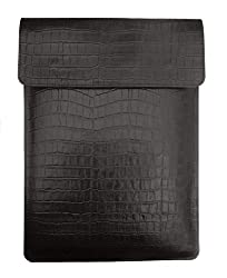 Chalk Factory Croc Print Leather Sleeve/ Slipcase for Apple MacBook Air MMGG2HN/A 13-inch Laptop #OR (Black)