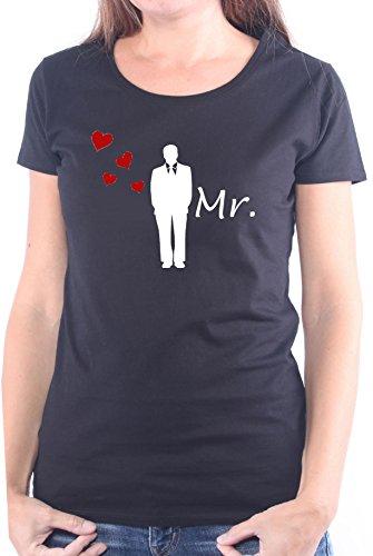 Mister Merchandise Ladies Damen Frauen T-Shirt MR - Bräutigam Tee Mädchen bedruckt Schwarz