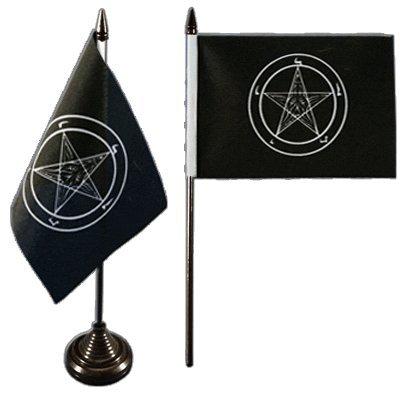 flaggenfritzer-tischflagge-baphomet-church-of-satan-10-x-15-cm