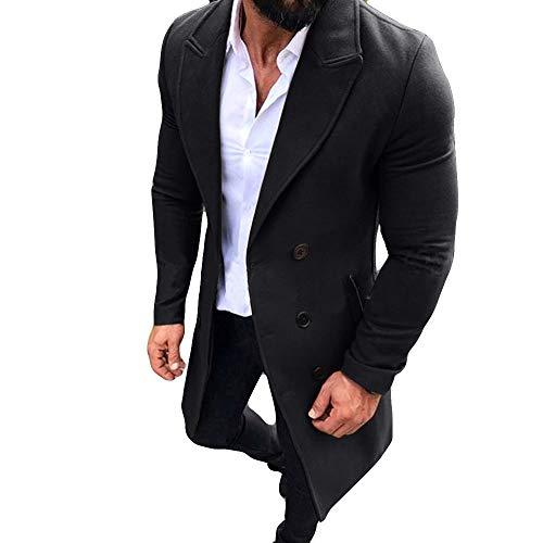KPILP Männer Anzugjacken New Trench Long Strickjacke Outwear Button Smart Mantel Windjacke Herbst und Winter ()