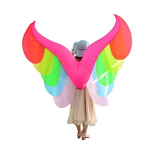 WJHFF Accessoires de Costume de Partie d'ailes arc-en-ciel gonflables de Halloween Mardi Gras Accessoires de Cosplay adultes.