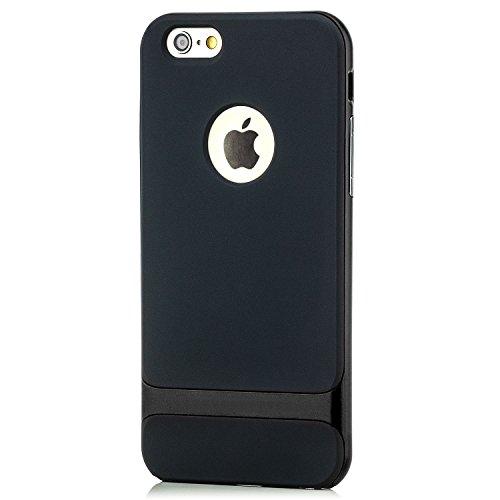 Saxonia Housse De Protection Étui Coque + Verre Trempé pour Apple iPhone 6 Plus / 6S Plus Mince Silikon Case Protecteur Bumper Cover | Vert Noir