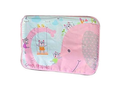 Set of 2 Car Curtains Creative Sunshades Curtains Sunshades, Pink elephant