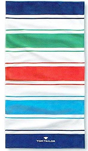 Tom Tailor Strandtuch / Duschtuch / Saunatuch / Lido Stripes blue 85x160 cm (110350908)
