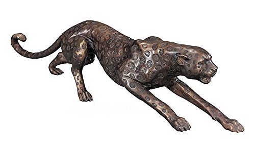 Antike Fundgrube Bronze Figur Skulptur Statue Gepard Cheetah Bronzeskulptur (616)