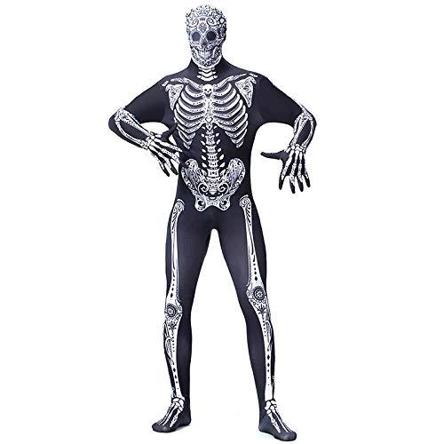 Kostüm Für Zentai Erwachsene Skelett - Skelett Kostüm Erwachsener Und Kind - Ausgefallenes Halloween Kostüm Jungen 150-198cm(59-78in)