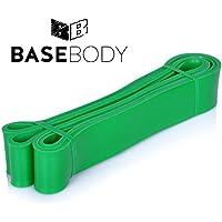 BaseBody® - Fascia elastica di resistenza per CrossFit, sollevamento pesi, trazioni assistite e allenamento sulla mobilità, Green