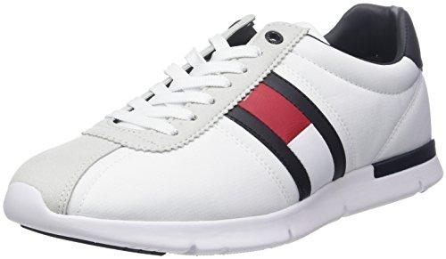 Tommy Hilfiger Retro Lightweight Sneaker, Zapatillas para Hombre, Blanco (White 100), 43 EU