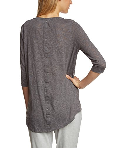 Only Onlcasa 3/4 Button Top Jrs Noos - T-shirt - Femme Gris (foncé)