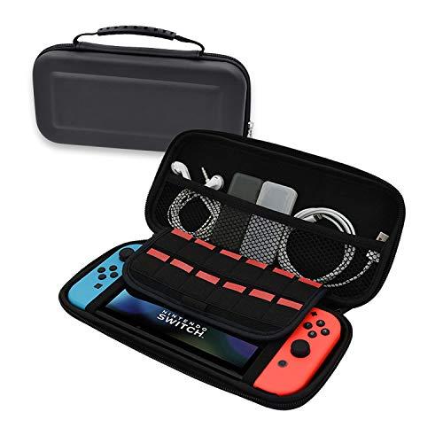 Pvc-switch Box (Tragetasche für Nintendo Switch mit Hartschalen-Etui für Wasserbeständigkeit / Scratch-Resistance PVC-Schalter, Schwarz / Rot / Grau)