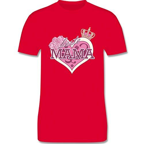 Statement Shirts - Beste Mama - Herren Premium T-Shirt Rot
