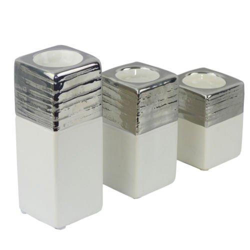 Unbekannt Carmen Teelichthalter Leuchter Keramik Windlicht Teelicht (Mittel) -