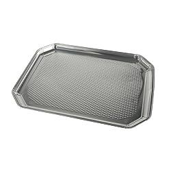 Platters, aluminum, angular, 35 cm x 26 cm, 5 pieces